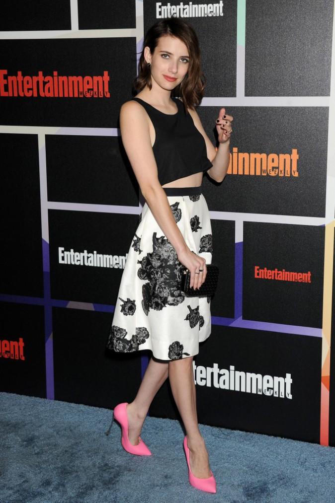 Emma Roberts pour la promotion d'American Horror Story: Coven au Comic-Con de San Diego le 26 juillet 2014.
