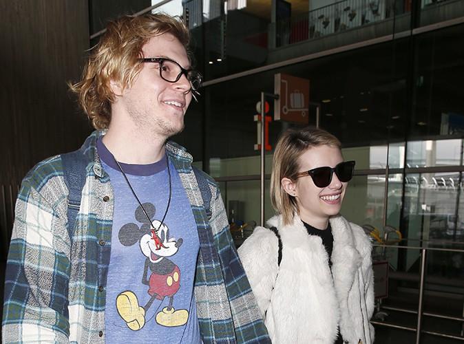 Evan Peters et Emma Roberts à Paris le 26 février 2014