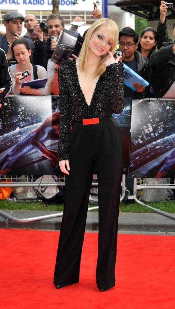 Emma Stone à la première du nouveau Spider-Man à Londres le 18 juin 2012