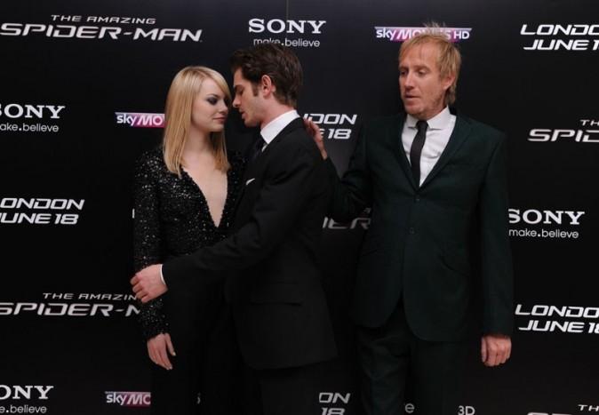 Emma Stone et Andrew Garfield à la première du nouveau Spider-Man à Londres le 18 juin 2012