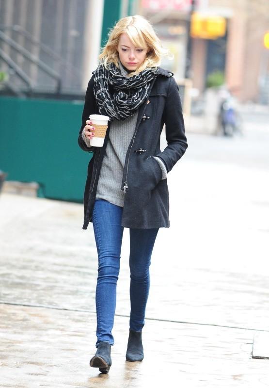 Emma Stone à New York, le 5 février 2013.