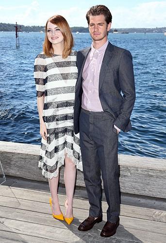 Emma Stone et Andrew Garfield à Sydney le 19 mars 2014