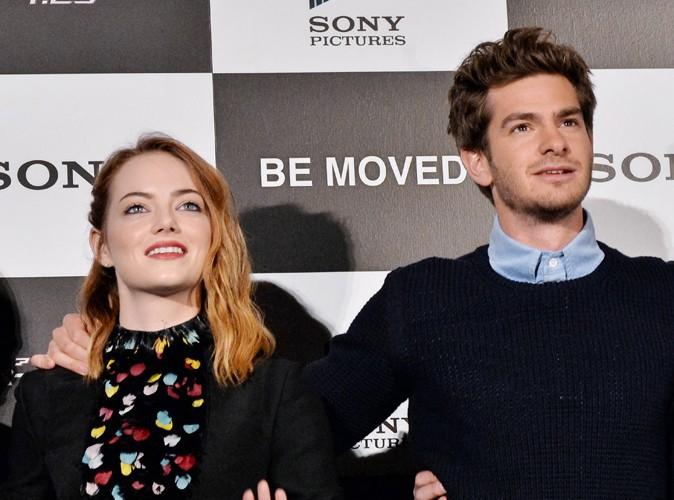 Emma Stone et Andrew Garfield à Tokyo le 31 mars 2014