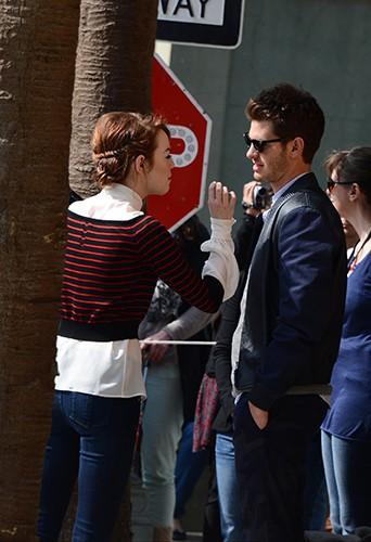 Andrew Garfiled et Emma Stone à Paris le 11 avril 2014