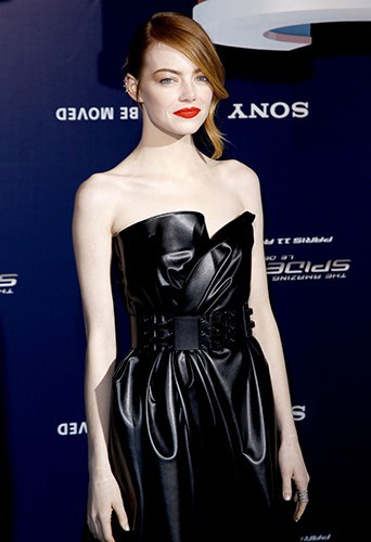 Emma Stone à Paris le 11 avril 2014
