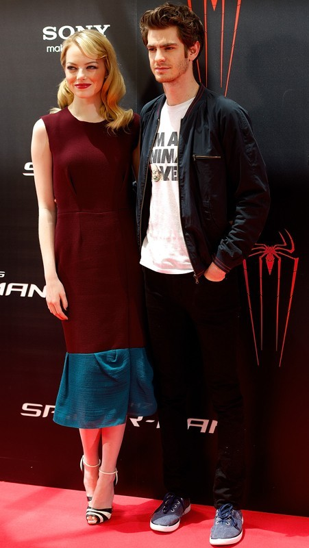 Emma Stone et Andrew Garfield à Madrid