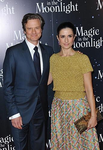 Colin Firth et sa femme Livia à Paris le 11 septembre 2014