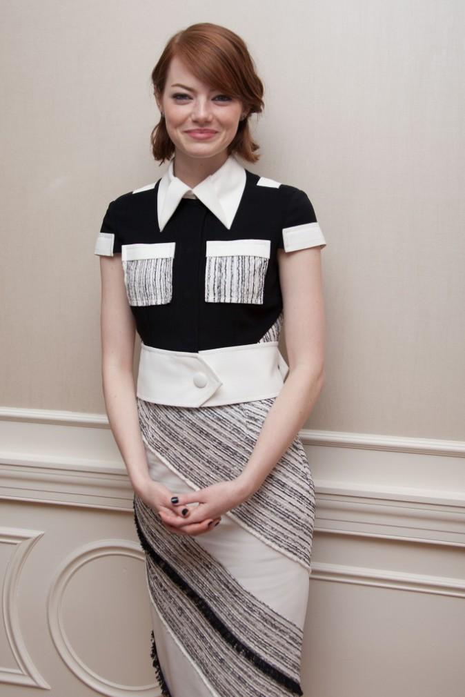Emma Stone à New York le 13 octobre 2014