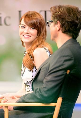 Emma Stone et Colin Firth à New York le 16 juillet 2014