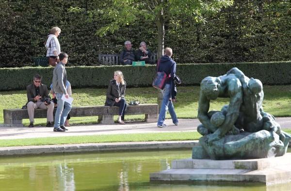 Emma Stone au Musée Rodin à Paris, le 4 octobre 2012.