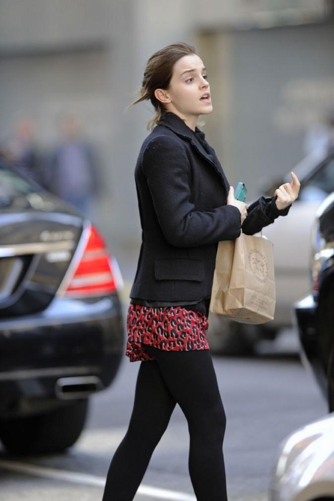 Emma Watson à New-York le 21 octobre 2012