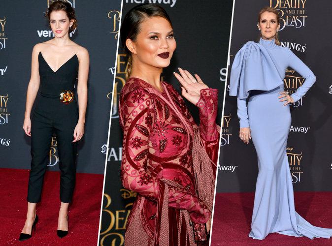 Emma Watson, Céline Dion, Chrissy Teigen... toutes présentes à la première de Beauty & The Beast !