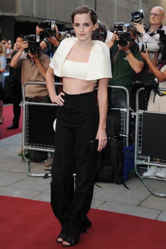 Emma Watson lors de la soirée GQ à Londres, le 3 septembre 2013.