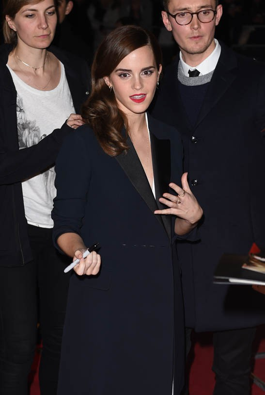 Emma Watson aux British Fashion Awards le 1er décembre 2014