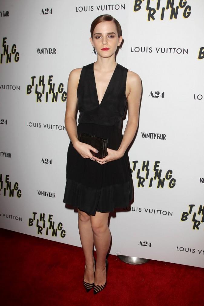 Emma Watson lors de la première de The Bling Ring à New York, le 11 juin 2013.