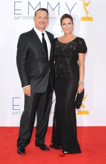 Tom Hanks et Rita Wilson lors des Emmy Awards à Los Angeles, le 23 septembre 2012.