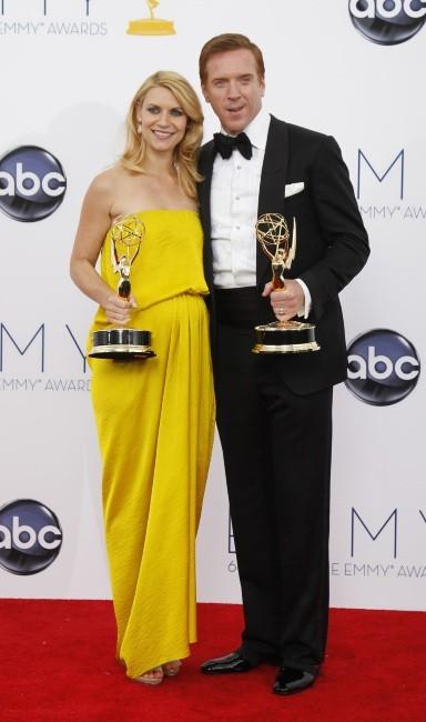 Claire Danes et Damian Lewis lors de la 64e cérémonie des Emmy Awards à Los Angeles, le 23 septembre 2012.