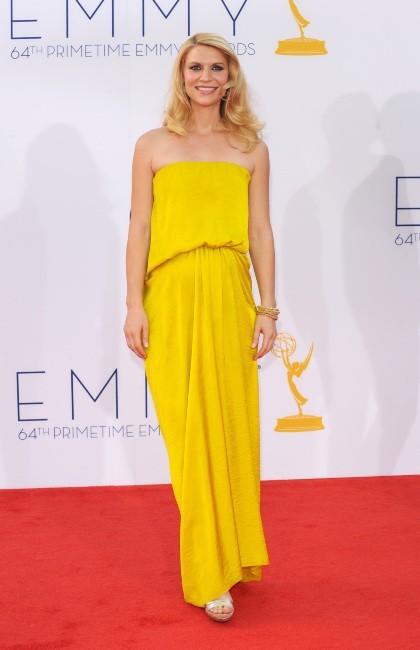 Claire Danes lors de la 64e cérémonie des Emmy Awards à Los Angeles, le 23 septembre 2012.