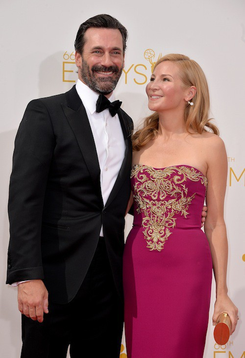 Jennifer Westfeld et Jon Hamm (mariés depuis 1997)