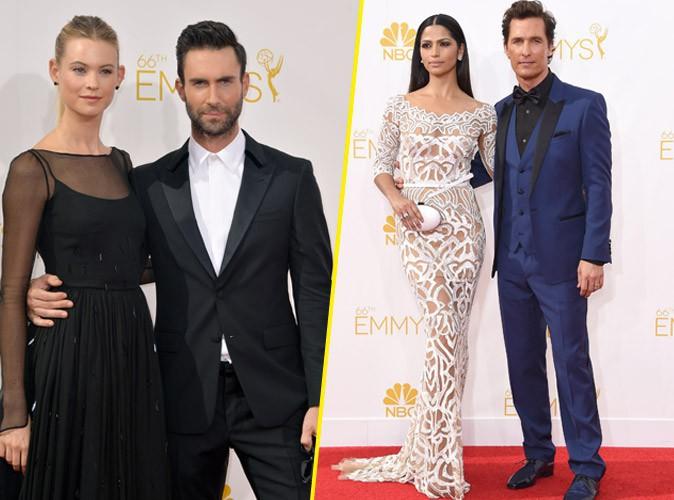 Photos : Emmy Awards 2014 : Adam Levine et Behati Prinsloo, Matthew McConaughey et Camilla Alves… : duels de couples sur le tapis rouge !