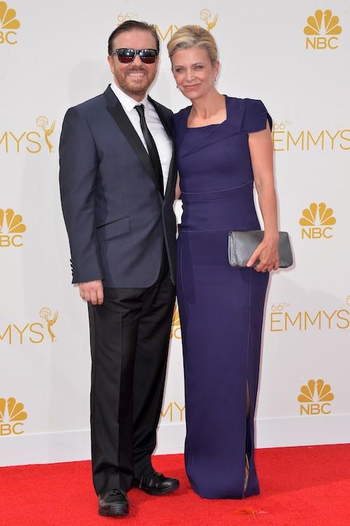 Ricky Gervais et Jane Fallon (en couple depuis 1982)