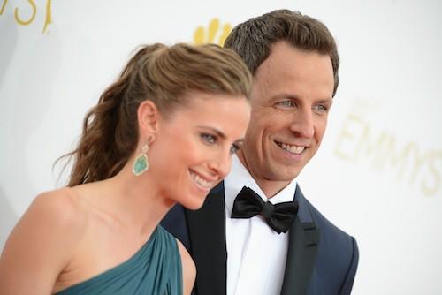 Seth Meyers et Alexi Ashe (mariés en 2013)