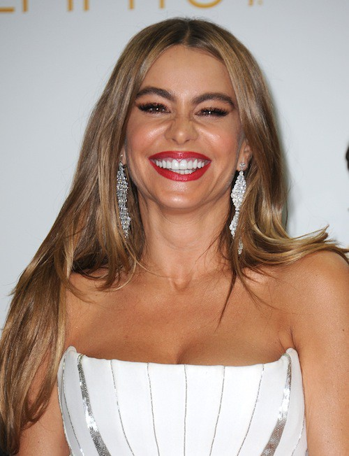 """Photos : Emmy Awards 2014 : Sofia Vergara : sans Joe Manganiello : """"Il est trop sexy pour venir sur le tapis rouge"""" !"""