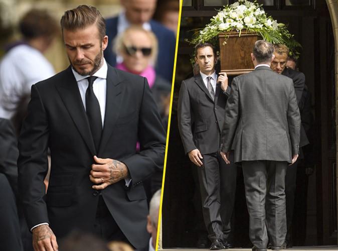 Photos : en deuil, David Beckham soutient ses amis aux obsèques de Neville Neville…