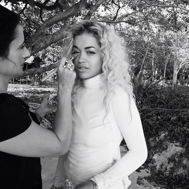 Rita Ora, en Thaïlande pour le tournage de son clip en janvier 2013