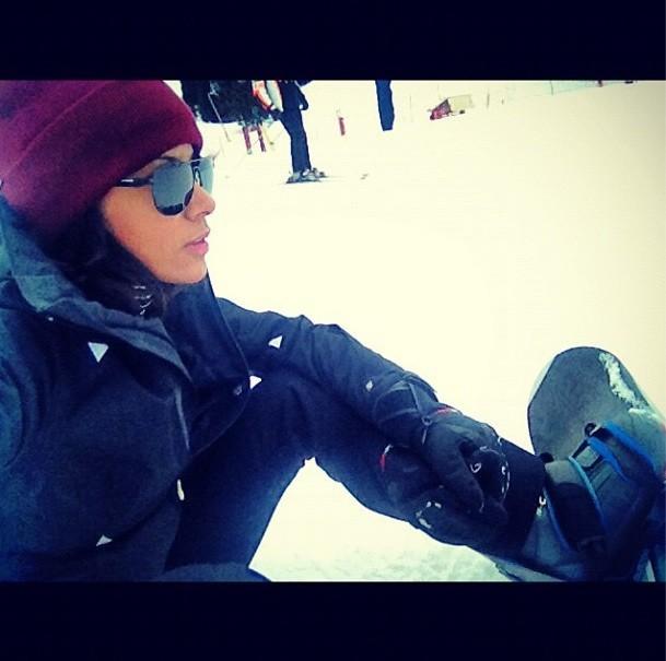 Shy'm en vacances au ski le 10 janvier 2013