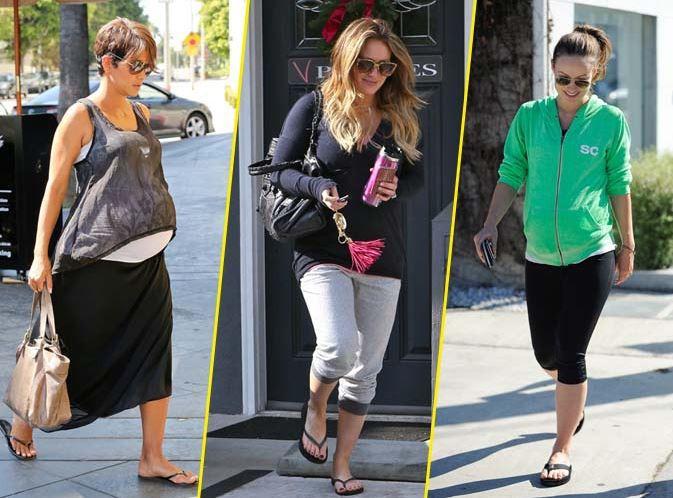 Halle Berry, Hilary Duff, Olivia Wilde... enceintes et en tongs,elles gardent le style !