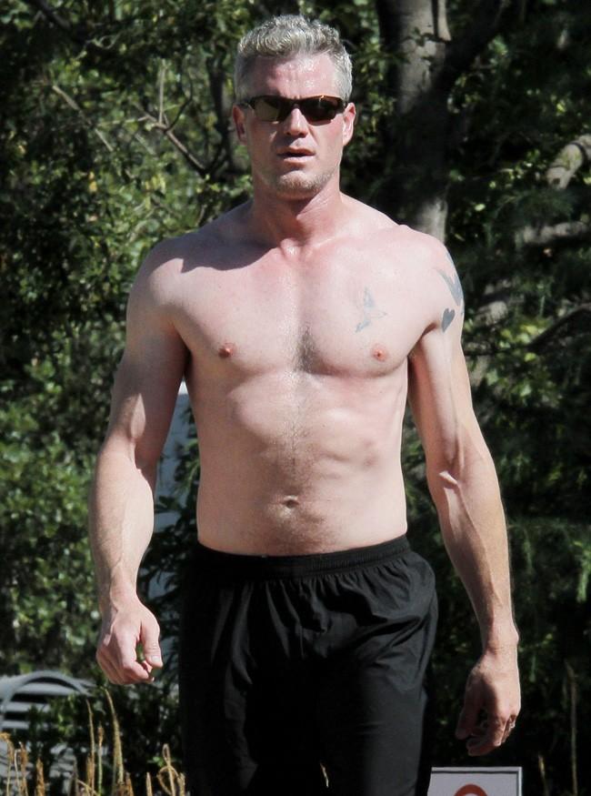 Eric Dane en pleine séance de sport à Los Angeles le 20 juin 2013