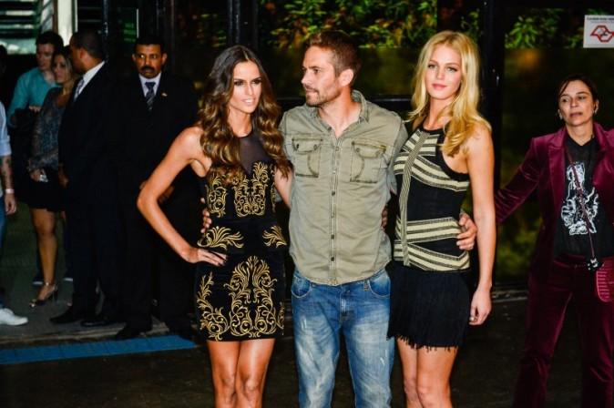 Izabel Goulart, Paul Walker et Erin Heatherton lors de la soirée Colcci à Sao Paulo, le 21 mars 2013.