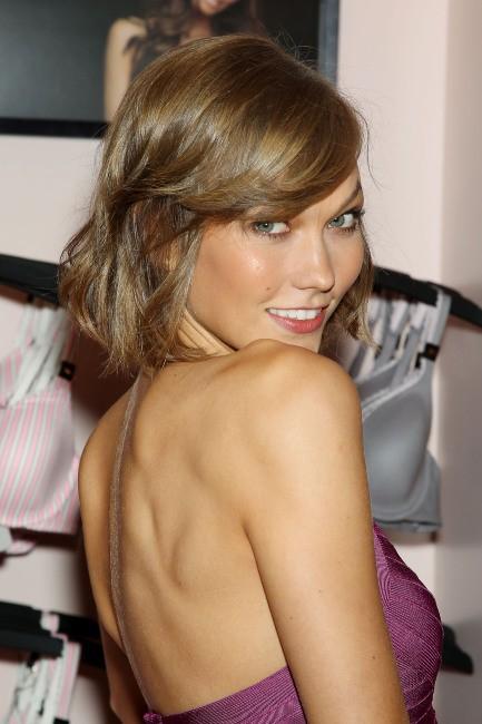 Karlie Kloss en promo pour Victoria's Secret à New York, le 30 juillet 2013.