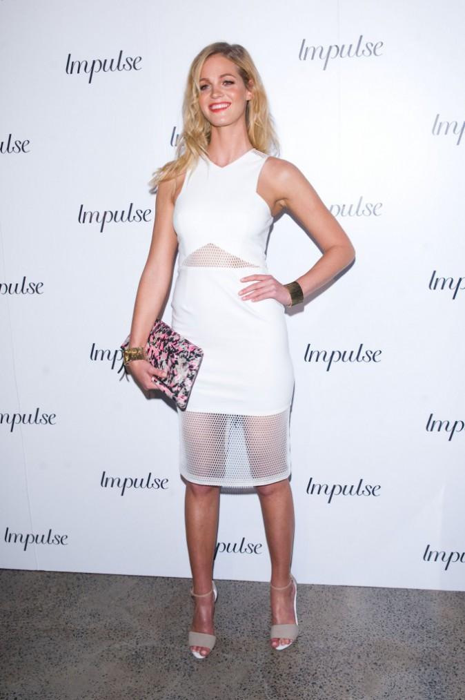 Erin Heatherton le 6 août à Sidney pour le lancement du nouveau parfum d'Impulse
