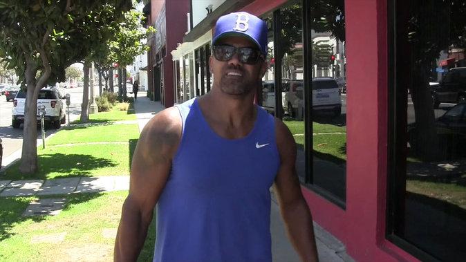 Shemar Moore se rend à la gym ce mardi 16 août 2016
