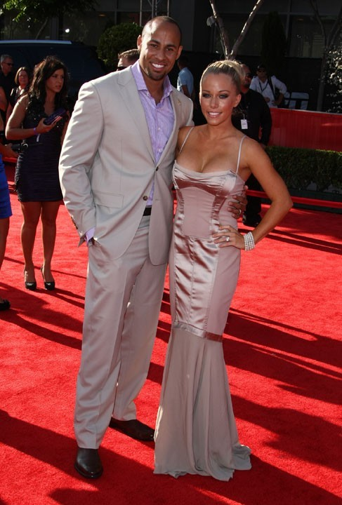 Hank Baskett et sa femme Kendra Wilkinson lors de la cérémonie des ESPY Awards à Los Angeles, le 13 juillet 2011.
