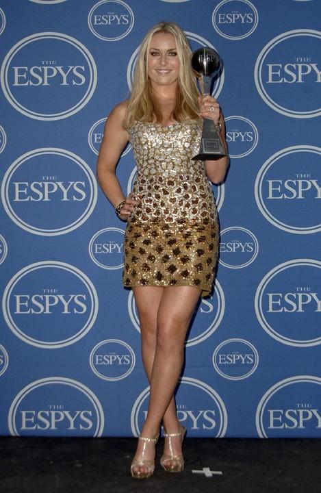 Lindsey Vonn lors de la cérémonie des ESPY Awards à Los Angeles, le 13 juillet 2011.