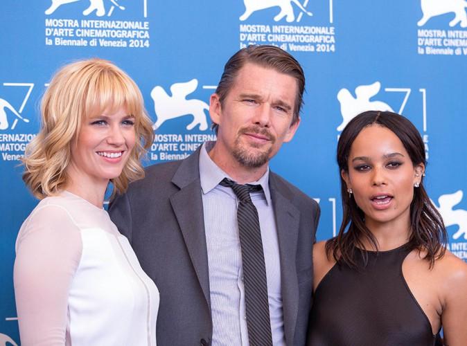 January Jones, Ethan Hawke et Zoë Kravitz à Venise le 5 septembre 2014