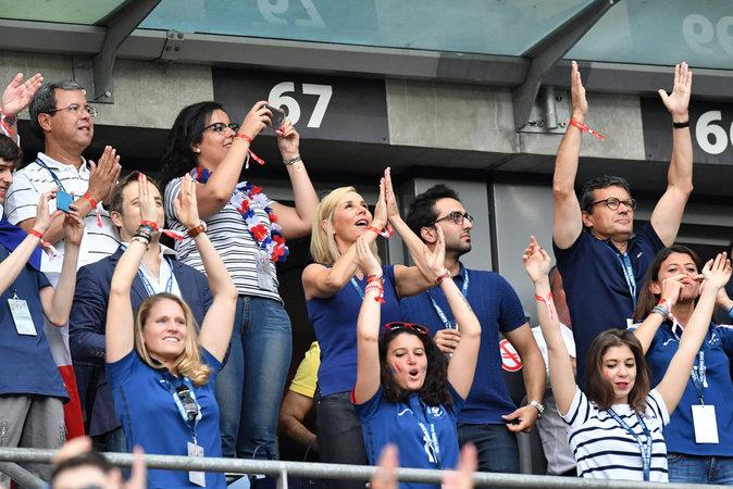 Laurence Ferrari et Renaud Capucon ont assisté à la finale de l'Euro 2016
