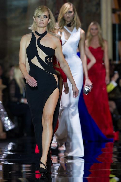 Amber Valetta au défilé Haute Couture Versace, le 25 janvier 2015