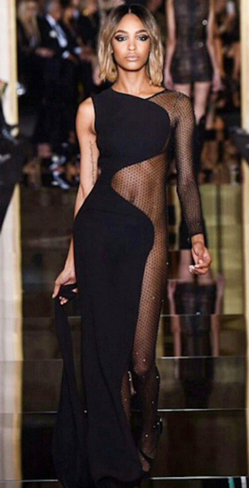 Jourdan Dunn au défilé Haute Couture Versace, le 25 janvier 2015