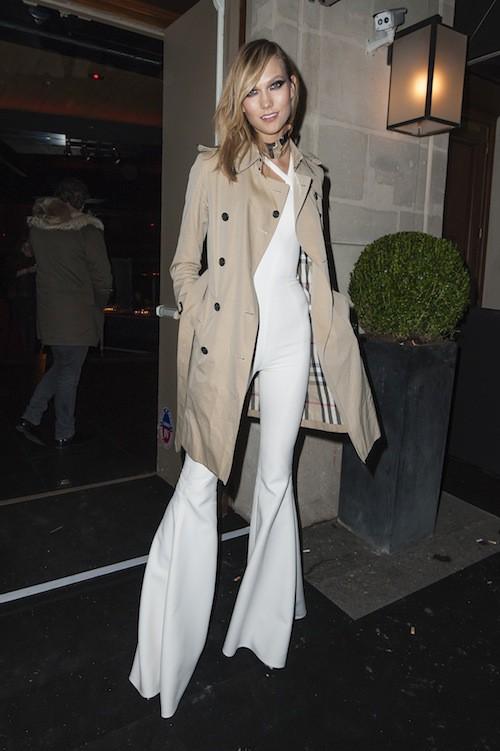 Karlie Kloss après le défilé Haute Couture Versace, le 25 janvier 2015