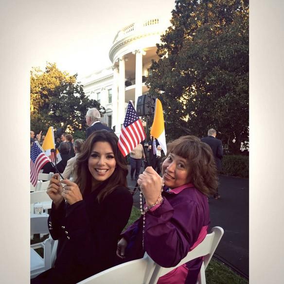 Eva Longoria à la Maison Blanche le 23 septembre 2015