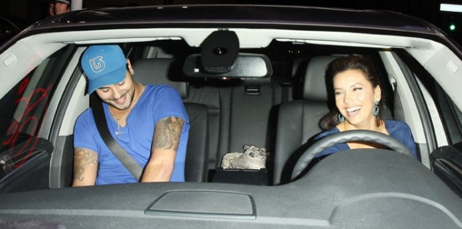 Eva Longoria et Eduardo Cruz à Hollywood, le 7 septembre 2011.