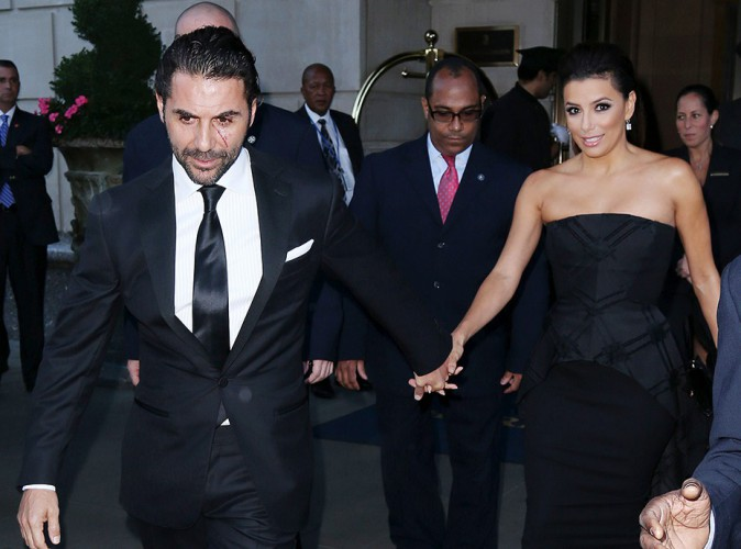 Jose Antonio Baston et Eva Longoria à New York le 23 septembre 2014