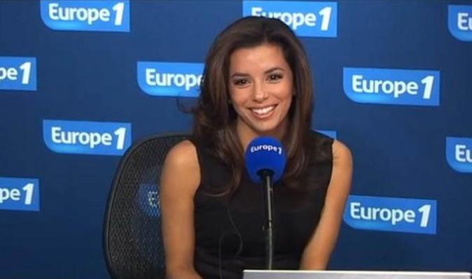 Eva Longoria dans les studios d'Europe 1 le 28 mai 2012