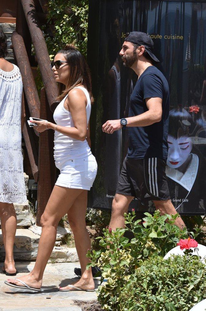 Eva Longoria et Jose Antonio Baston, à Marbella, le 17 juillet