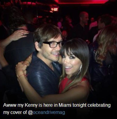 Eva Longoria et Ken Paves à Miami le 14 mars 2014