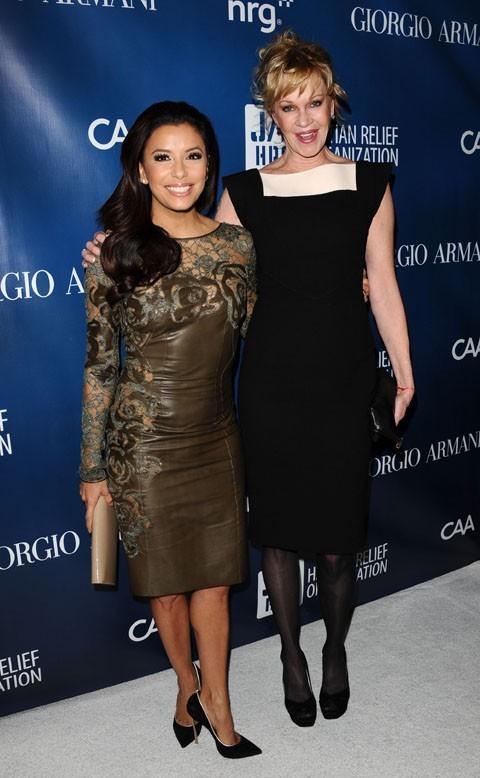 Eva Longoria au gala de charité de Sean Penn pour Haïti à Los Angeles le 12 janvier 2013